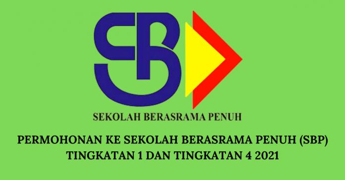 Permohonan Ke Sekolah Berasrama Penuh (SBP) Tingkatan 1 dan Tingkatan 4 2021